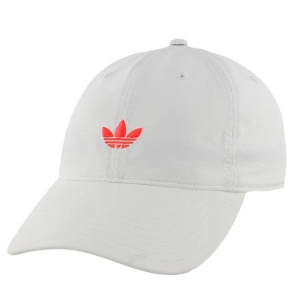 f9541ef64ebe6 White and Hot Pink Adidas Hat